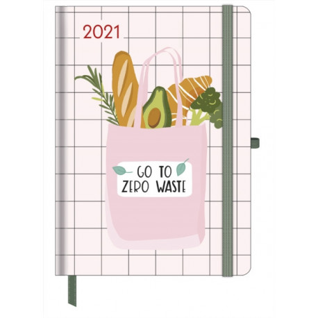 GREEN VIBES LARGE GREENLINE DIARY 2021