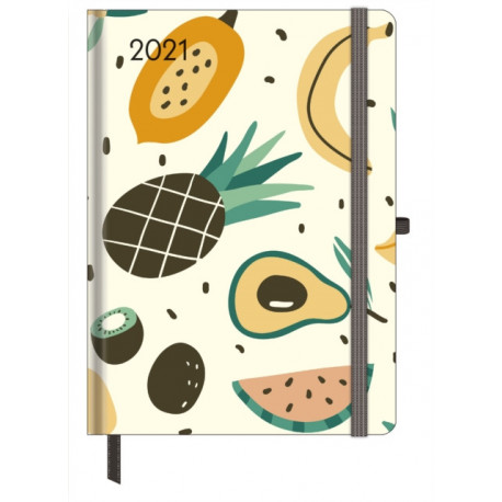 HAPPY FRUITS LARGE GREENLINE DIARY 2021