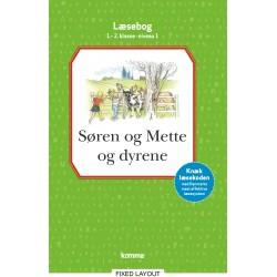 Søren og Mette og dyrene læsebog 1.-2. kl. Niveau 1