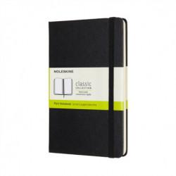 Moleskine Medium Plain Hardcover Notebook: Black