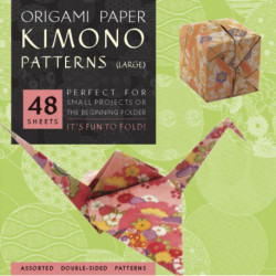 """Origami Paper - Kimono Patterns - Large 8 1/4"""" - 48 Sheets: Tuttle Origami Paper: High-Quality Double-Sided Origami Sheets Printed with 8 Different Designs (Instructions for 6 Projects Included)"""
