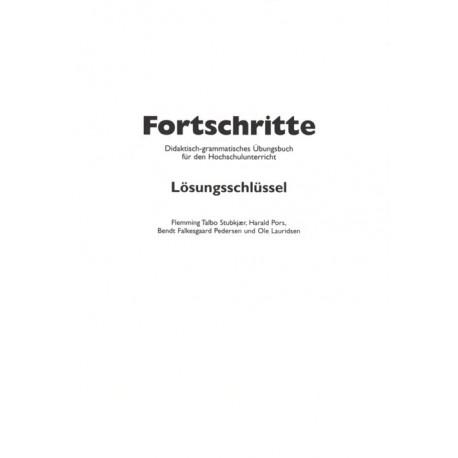 Fortschritte: didaktisch-grammatisches Übungsbuch für den Hochschulunterricht, Lösungsschlüssel