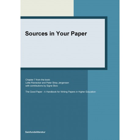 Sources in your paper
