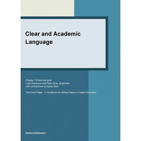 Clear and academic language
