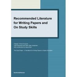 Recommended literature for writing papers and on study skills