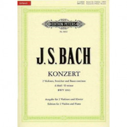 CONCERTO FOR 2 VIOLINS IN D MIN BWV1043