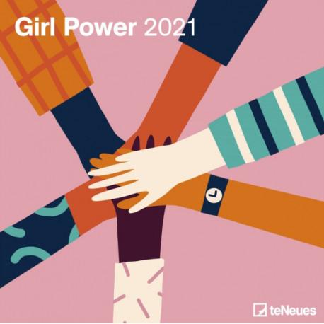 GIRL POWER 30 X 30 GRID CALENDAR 2021