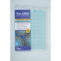 """Visigrid Quilters Template Sheets: Easy to See, Mark & Cut * Non-Glare * 4 Sheets * 8 1/2"""" x 11"""" * 1/8"""" Grid"""