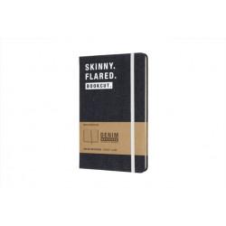 Moleskine Denim Notebook Limited Collection 'skinny. Flared. Bookcut.' Large Ruled Notebook Hard