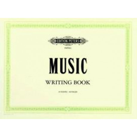 MUSIC WRITING BOOK LANDSCAPE 10 STAVE