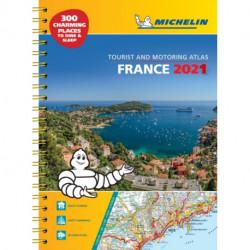 France 2021 - A3 Tourist & Motoring Atlas: Tourist & Motoring Atlas A4 spiral