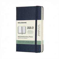 Moleskine 2021 18-Month Weekly Pocket Hardcover Diary: Sapphire Blue
