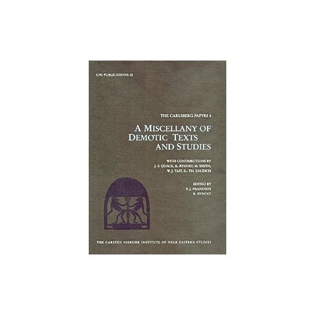 The Carlsberg papyri - A miscellany of Demotic texts and studies: A miscellany of Demotic texts and studies (3)