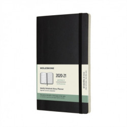 Moleskine 2021 18-Month Weekly Large Softcover Diary: Black
