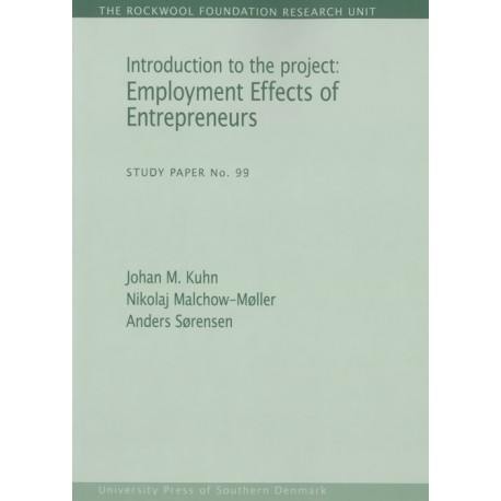 Introduction to the project: Employment Effects of Entrepreneurs: Employment Effects of Entrepreneurs