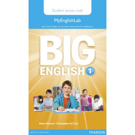 Big English 1 Pupil's MyEnglishLab Access Code (standalone)