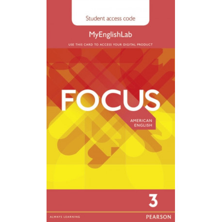 Focus AmE 3 MyEnglishLab Student's Access Card