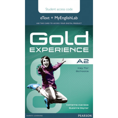Gold Experience A2 eText & MyEnglishLab Student Access Card