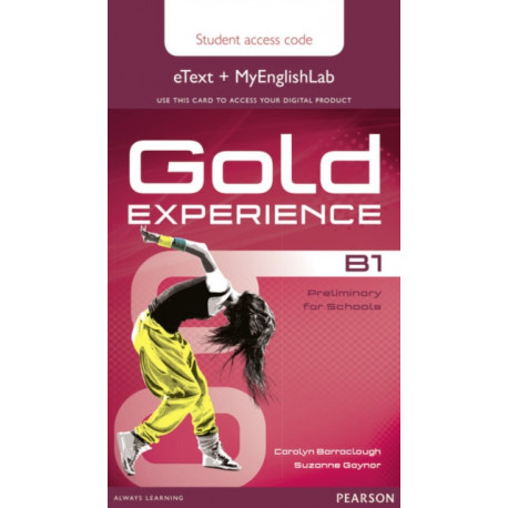 Gold Experience B1 eText & MyEnglishLab Student Access Card