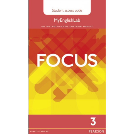 Focus BrE 3 MyEnglishLab Student's Access Card